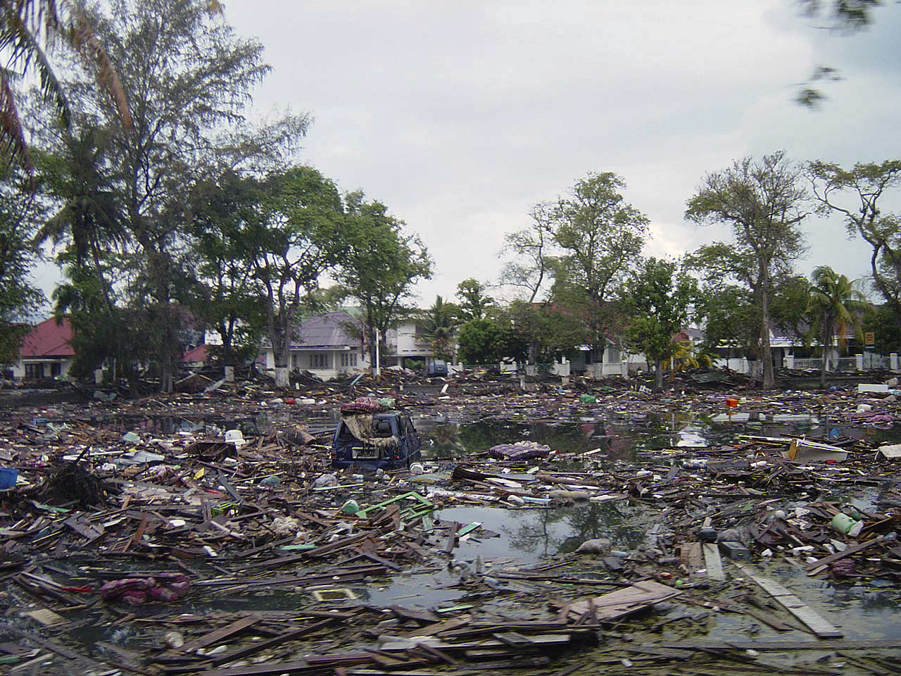 Destruction Caused by Indonesia Tsunami